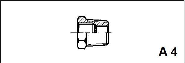 Адаптер, наруж. конусная / внутренняя резьба A 4