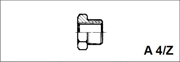 Адаптер, наружная / внутренняя резьба A 4/Z