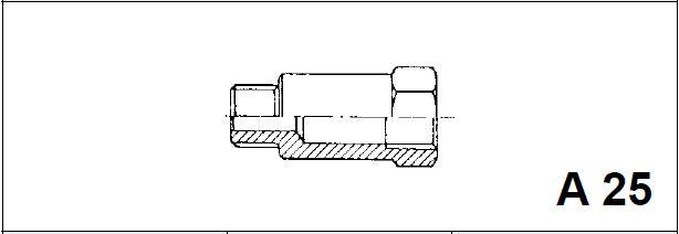 Адаптер, наружная / внутренняя резьба A 25