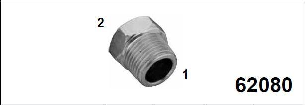 Адаптер редукционный, внутр. / наруж резьба 62080
