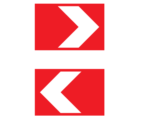 Buy Road sign of 2 t / r Rectangular 1.34.1-1.34.3 615x500x2