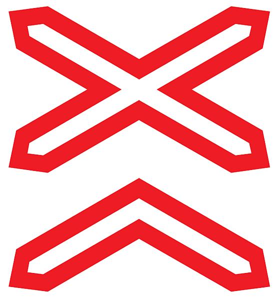 Купить Знак дорожный 2 т/р Многопутная ж/д 1.3.2