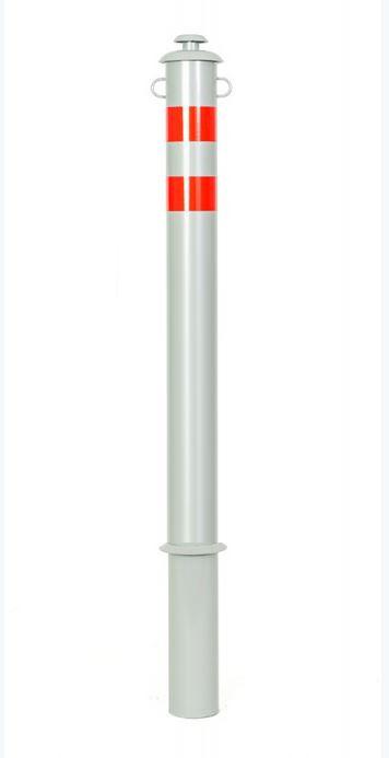 Столбик анкерный серии Город, цвета: Серебристый глянец / Хром