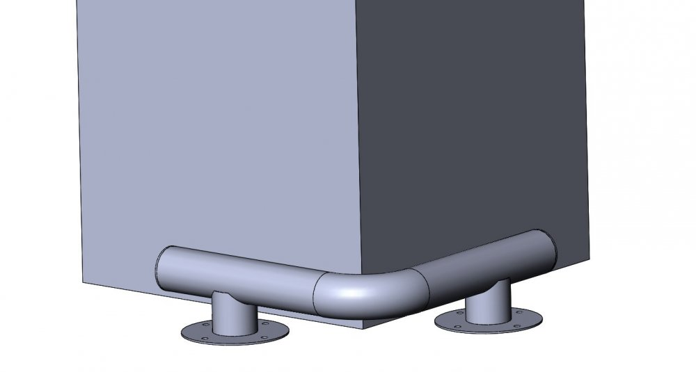 Buy Kolesootboynik metal KM-600/76x3 for columns on legs