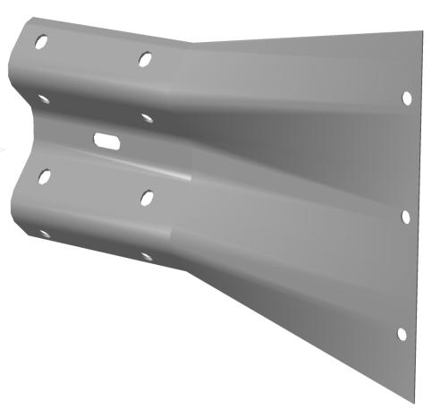 Купить Металлическое дорожное ограждение, консоль-амортизатор 11-ДО/250-0,75:1,0-1,0