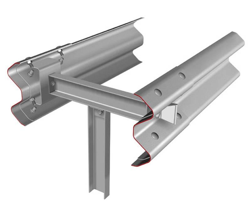 Купить Металлическое мостовое ограждение, 11 МД двустороннее одноярусное 11-МД/300-0,75:1,0-0,80