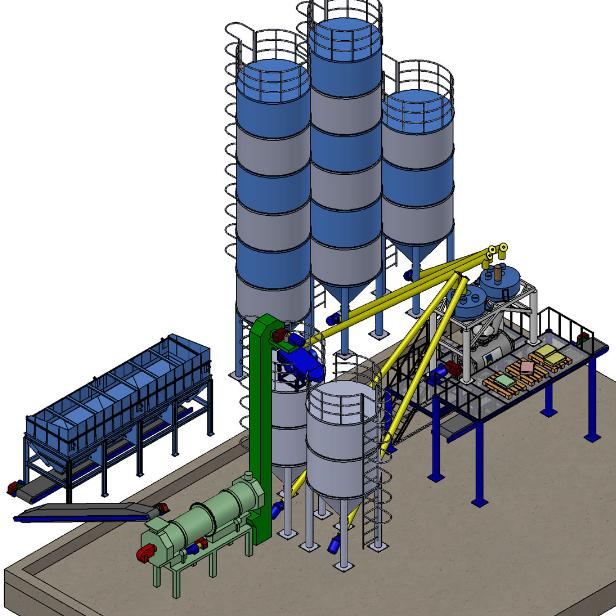 Купить Оборудование для производства сухих строительных смесей для промышленных предприятий