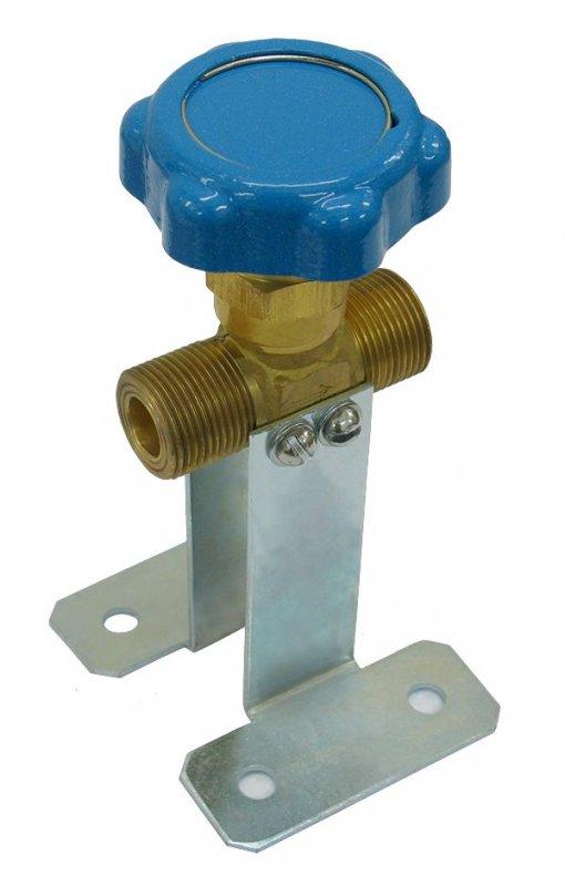 Buy The valve locking K-1409-250 G3/4 a blue flywheel with h 90 arm