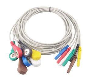 Купить Кабель Холтер 7 отведений, Snap, IEC,Din 2.0mm