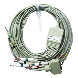 Купить ЭКГ Кабель отведения пациента для МАС-500, 1200, 5000, штекер 4 мм, Banana,