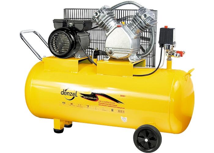 Купить Компрессор воздушный PC 2/100-370, 2,2 кВт, 370 л/мин, 100 л// Denzel
