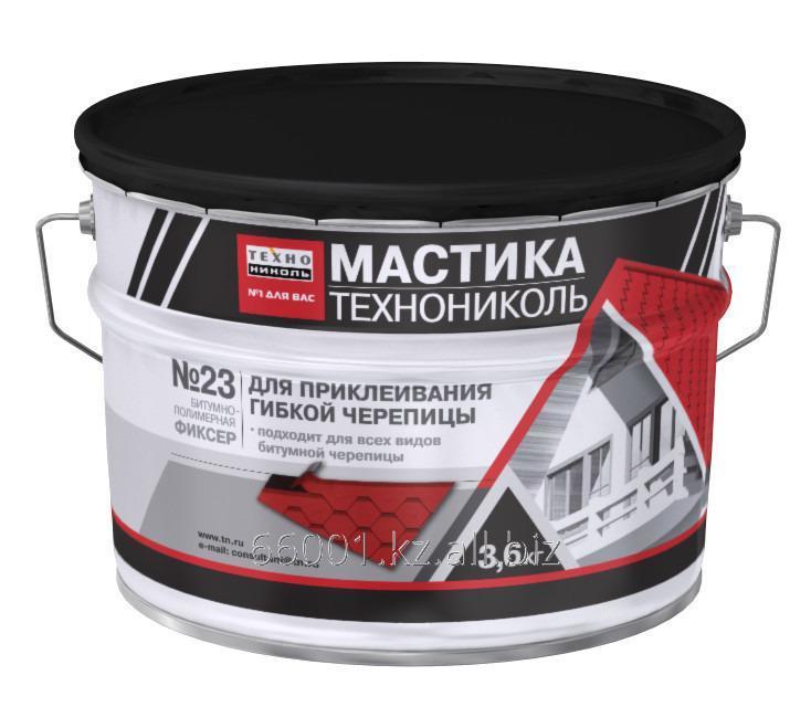 Купить Мастика для гибкой черепицы ТЕХНОНИКОЛЬ №23 (Фиксер), ведро 3,6 кг