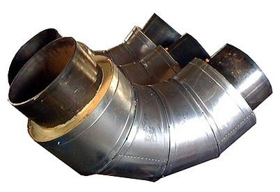 Отвод Ст 159х4,5-90-1-ППУ-ПЭ L=1000