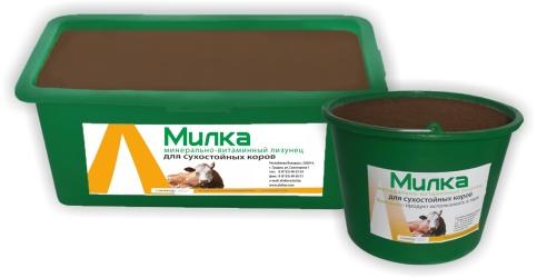 Купить Лизунец витаминно-минеральный «МИЛКА» для сухостойных коров