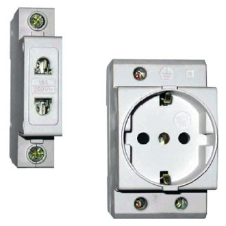 Electric equipment - block contact of BQ 96; rastsepitel independent PH 96; rastsepitel of the minimum and maximum tension of PMH 96; ZD 96 call; lamps alarm HP 96; RD 96 and RDE 96 sockets.