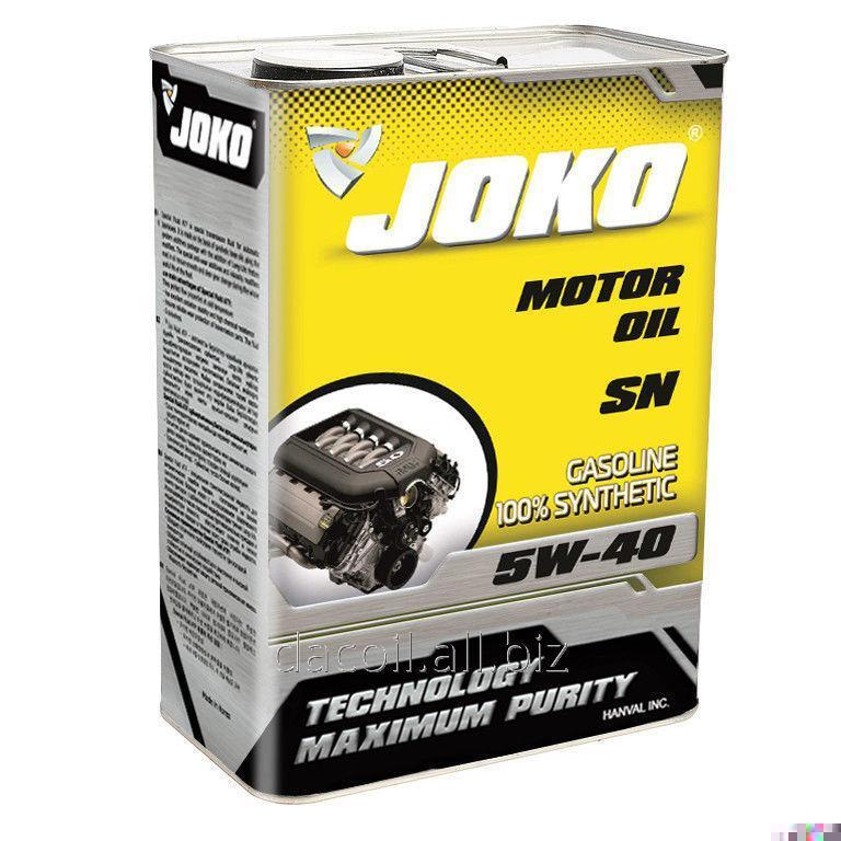 Купить Моторное масло JOKO GASOLINE 100% Synthetic SN 5w-40 4л JSN504