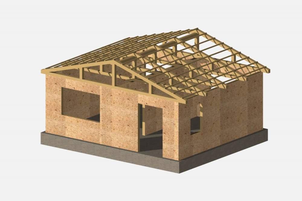Деревянно-каркасный дачный домо-комплект 30м2