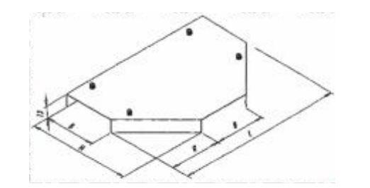 Крышка крестообразной секции