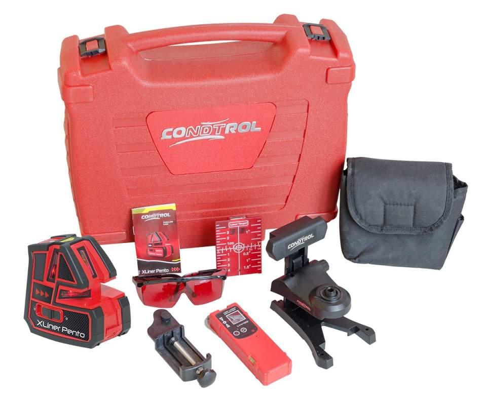 Самовыравнивающийся лазерный нивелир-уровень CONDTROL XLiner Pento Set