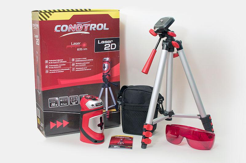 Двухплоскостной лазерный нивелир CONDTROL Laser 2D Set