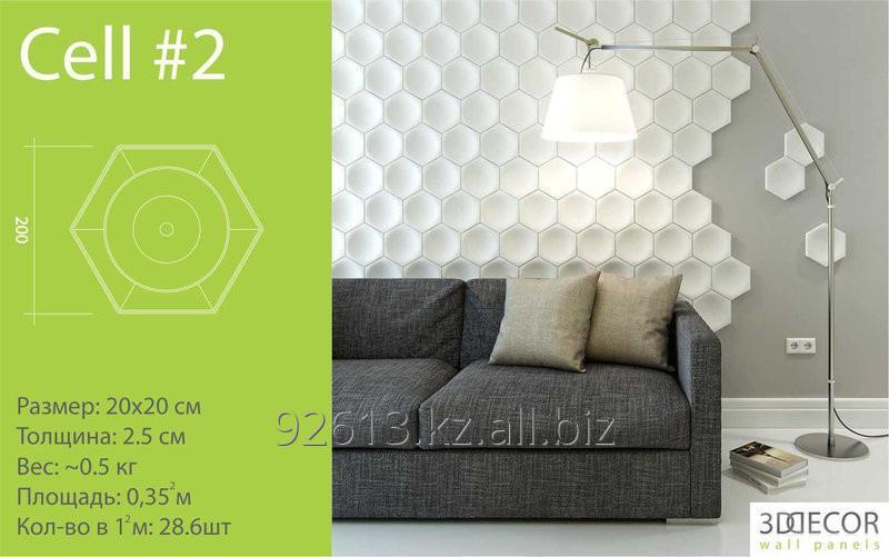 Купить 3D гипсовая панель. Стеновая панель в Алматы. Заказ от 3м2