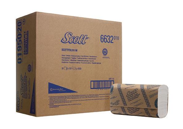 Бумажные полотенца в пачках SCOTT® Scottfold M, однослойные, 25х175л 6633