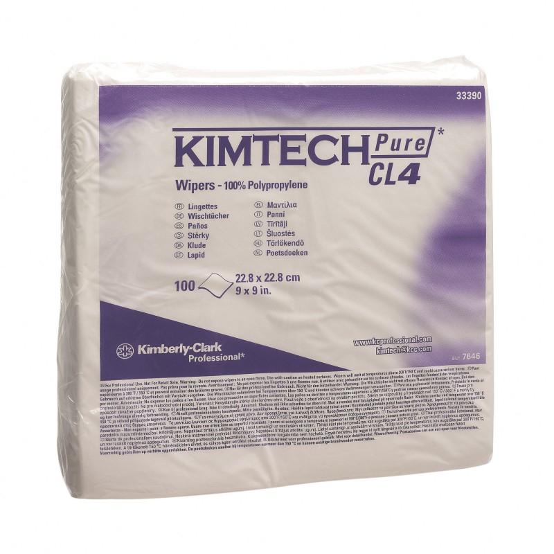 Протирочный материал Kimtech Pure W4 - полипропилен с термосваркой, химически инертный, в пачках, двойная упаковка