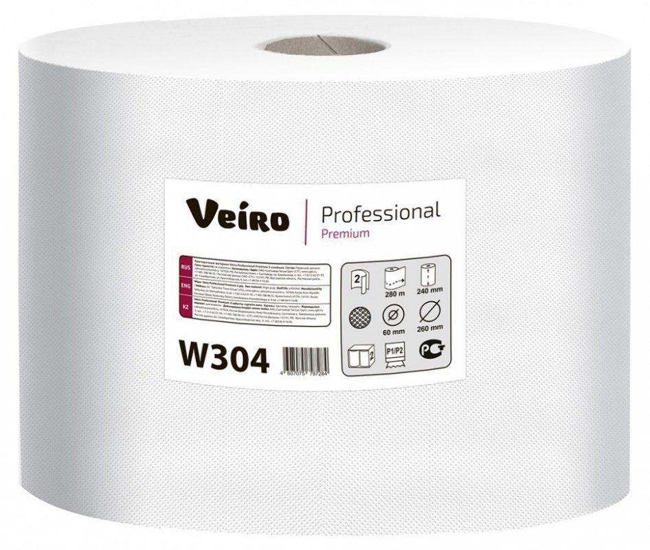 Купить Протирочный материал Veiro Professional Premium (Вейро Премиум) в рулонах, белый, двухслойный, 2х800л W304