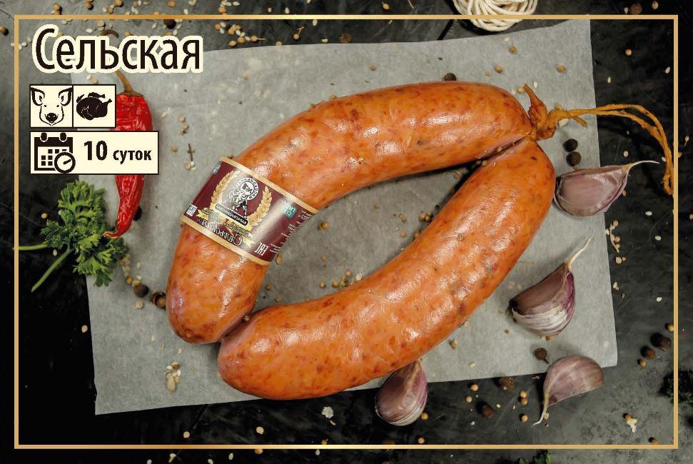 Полукопченая колбаса Сельская