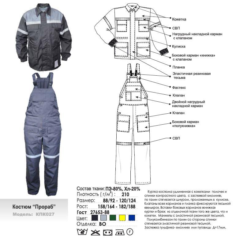 Костюм Прораб модель КПК027