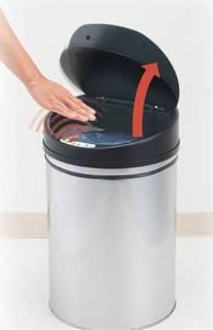 Корзина для мусора сенсорная бесконтактная (сталь, пластик)