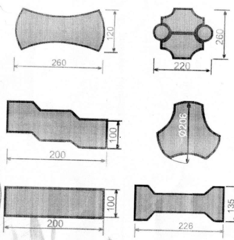 Купить Изделия из пластмасс литьевые, Формы для изготовления тротуарной плитки