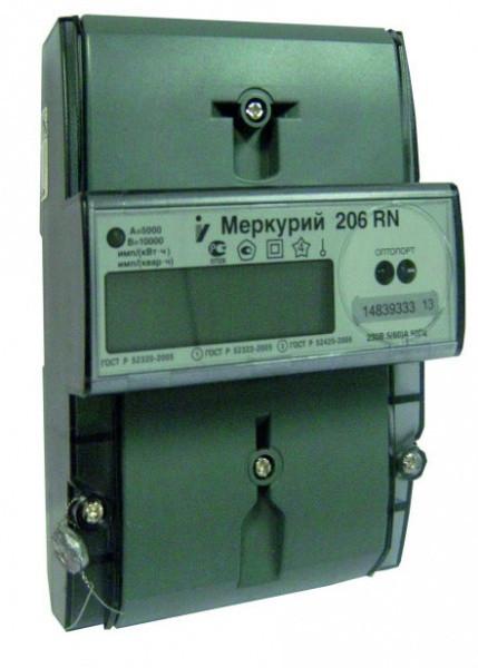 Счетчик электроэнергии однофазный многотарифный Меркурий 206 N