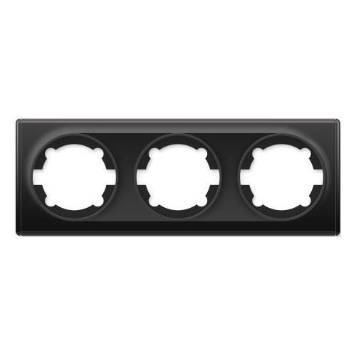 Рамка тройная, цвет чёрный (серия Florence)