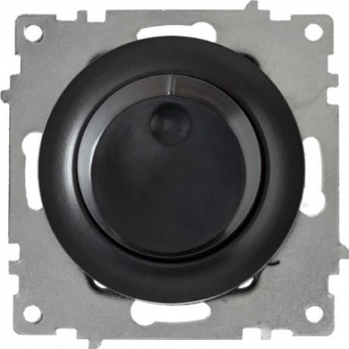 Светорегулятор 600 W для ламп накаливания и галогенных ламп, цвет чёрный (серия Florence)