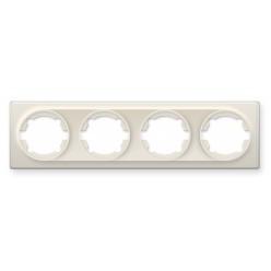 Рамка на 4 прибора, цвет белый (серия Florence)