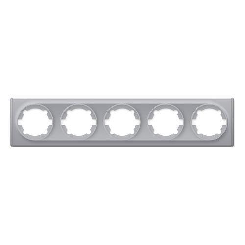 Рамка на 5 приборов, цвет серый (серия Florence)