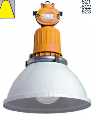 Взрывозащищенный светильник ГСП18ВЕх-100-822У1