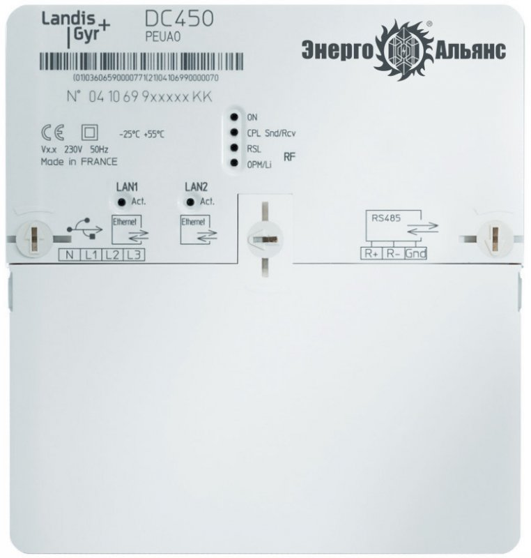 Концентратор DC450 PEUA0 2G + Ethernet + RS485, incl. internal Antenna