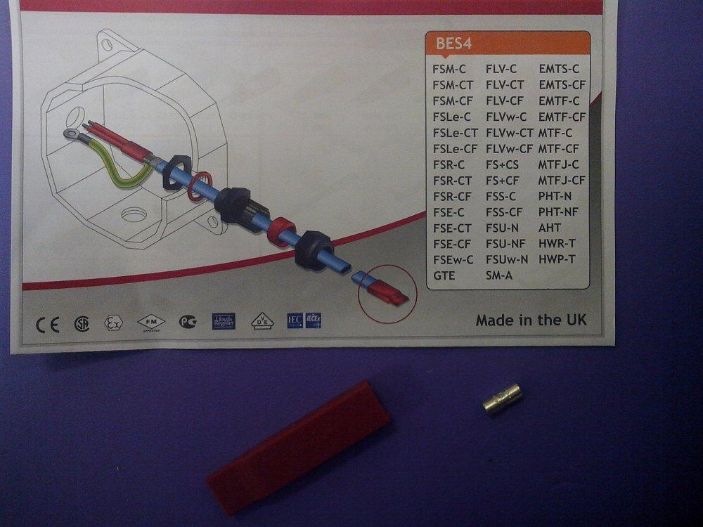 Набор конечной заделки нагревательного кабеля с силиконовым наконечником BES4(5)