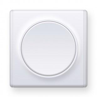 Переключатель одинарный, цвет белый (серия Florence)