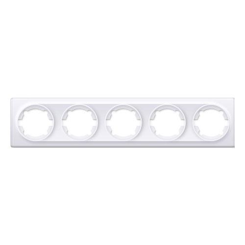 Рамка на 5 приборов, цвет белый (серия Florence)