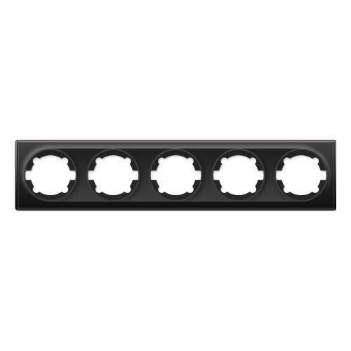 Рамка на 5 приборов, цвет чёрный (серия Florence)