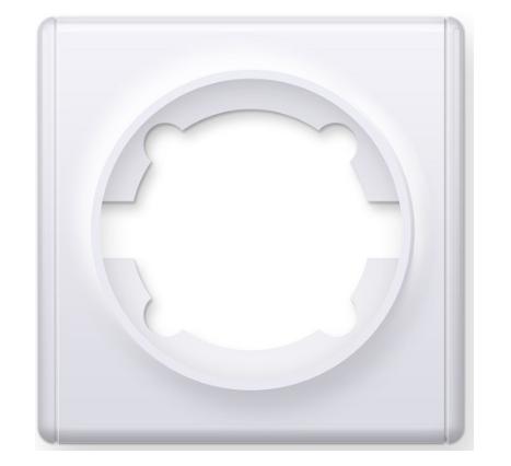 Рамка одинарная, цвет белый (серия Florence)