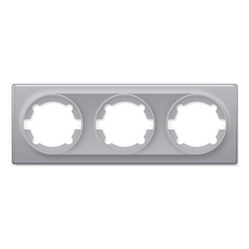Рамка тройная, цвет серый (серия Florence)