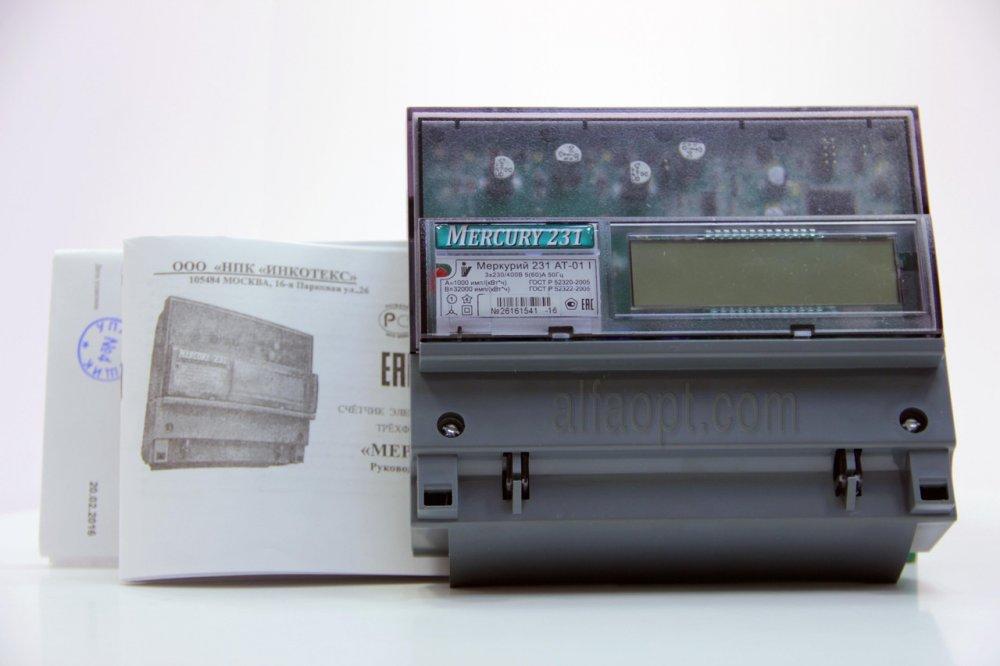 Счетчик электроэнергии трехфазный, активной энергии, многофункциональный Меркурий 231 АТ-01I