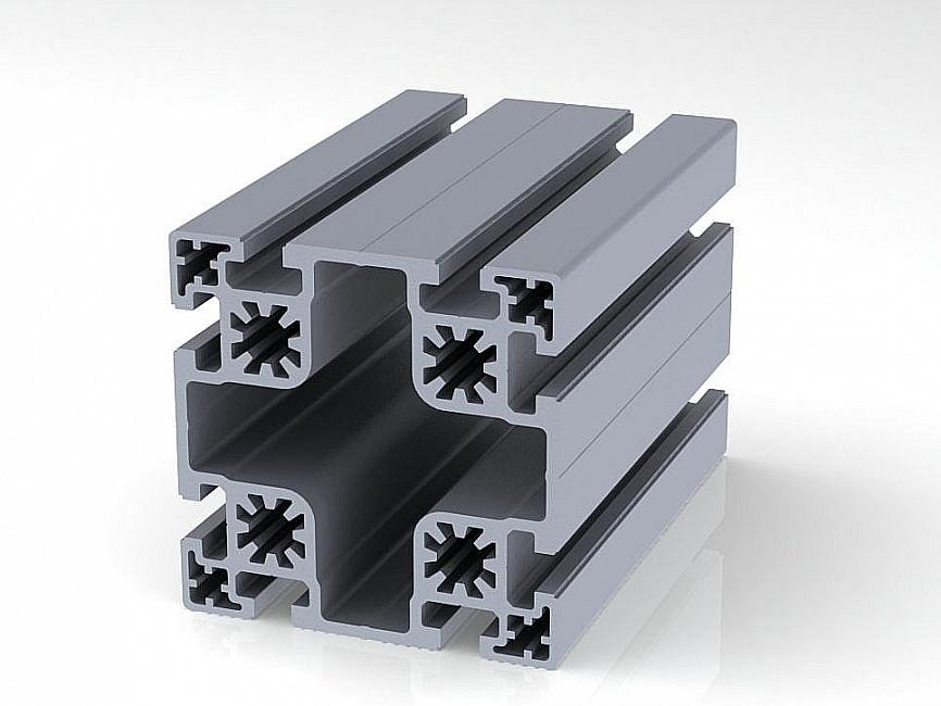 Профиль конструкционный 100 х 100 (ан. серебро)
