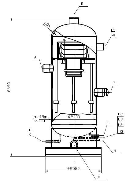 Сепаратор ВЖК 16-6,3 (С-1); ВЖК 20-4,0(С-2)