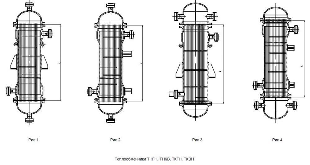 Аппараты теплообменные кожухотрубчатые повышенной тепловой с расширителем на корпусе Ø1000 и Ø1200 ТУ 26-02-1102-89