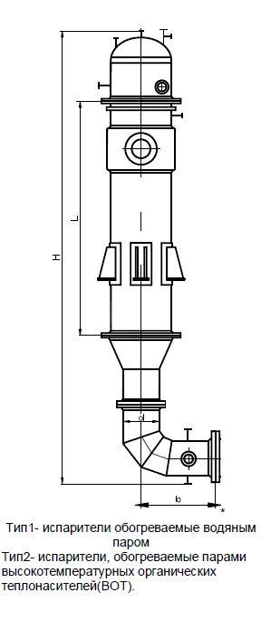 Испарители со стекающей пленкой к ректификационным колоннам ОСТ 26-01-50-77
